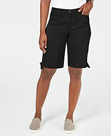 Petite 12-Inch Tie-Hem Shorts, Created for Macy's
