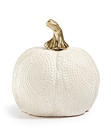 Harvest Small Ceramic White Pumpkin, Created for Macy's