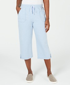 Karen Scott French Terry Capri Pants, Created for Macy's