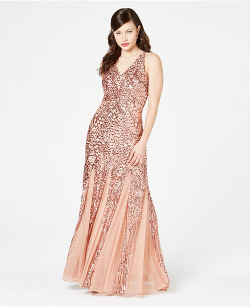b250ac2c0 Nightway Petite Size Sleeveless Sequin Gown & Reviews - Dresses ...