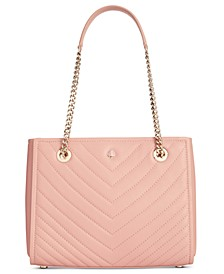 Amelia Quilted Small Leather Tote