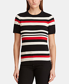 Lauren Ralph Lauren Petite Short-Sleeve Sweater