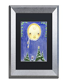 "Jennifer Nilsson Holiday Moon Matted Framed Art - 16"" x 20"" x 0.5"""