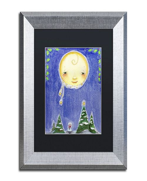 "Trademark Global Jennifer Nilsson Holiday Moon Matted Framed Art - 16"" x 20"" x 0.5"""