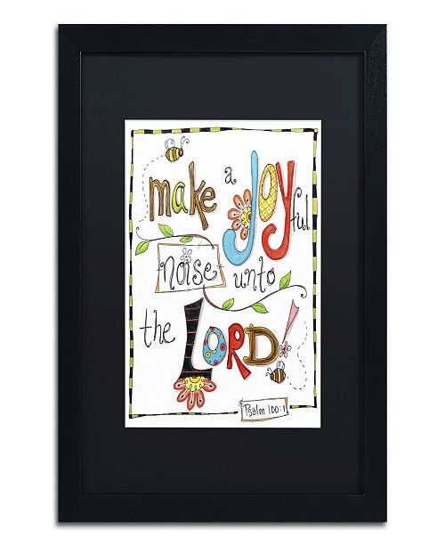 "Trademark Global Jennifer Nilsson Words of Joy - Joyful Noise Matted Framed Art - 16"" x 20"" x 0.5"""