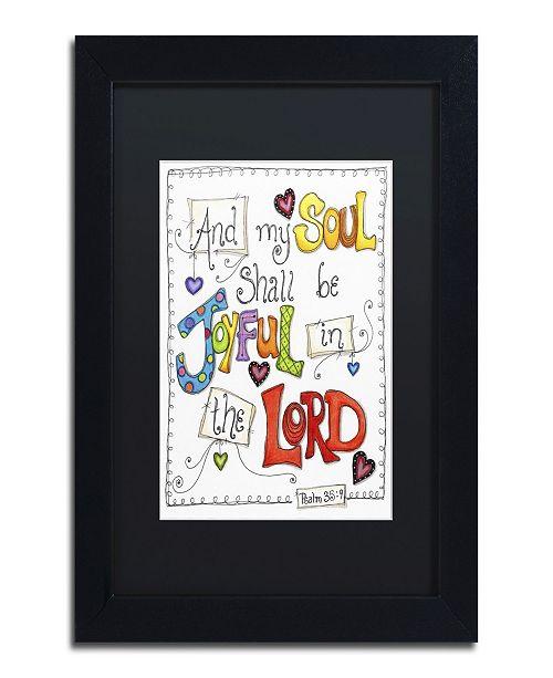"Trademark Global Jennifer Nilsson Words of Joy - Joyful Soul Matted Framed Art - 11"" x 14"" x 0.5"""