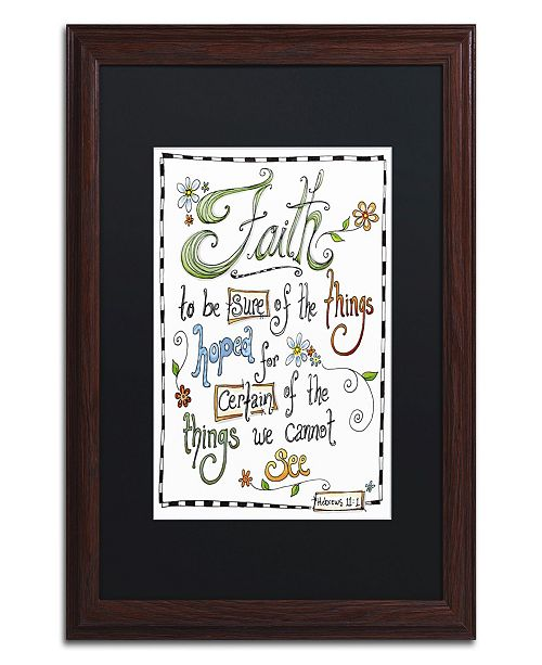 "Trademark Global Jennifer Nilsson Words of Faith - Certainty Matted Framed Art - 11"" x 14"" x 0.5"""