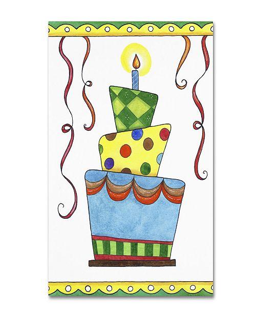 "Trademark Global Jennifer Nilsson Birthday Cake 1 Canvas Art - 11"" x 14"" x 0.5"""