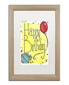"Jennifer Nilsson Happy Birthday Matted Framed Art - 18"" x 24"" x 2"""