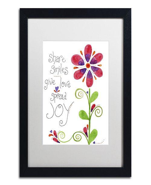 "Trademark Global Jennifer Nilsson Spread Joy Matted Framed Art - 16"" x 20"" x 0.5"""