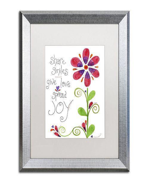 "Trademark Global Jennifer Nilsson Spread Joy Matted Framed Art - 11"" x 14"" x 0.5"""