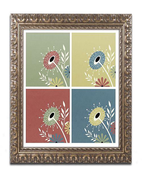"""Trademark Global Jennifer Nilsson Autumn Flowers Ornate Framed Art - 11"""" x 14"""" x 0.5"""""""