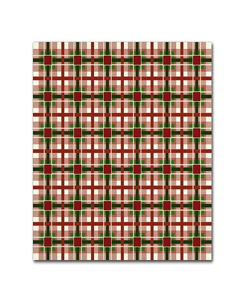 "Trademark Global Jennifer Nilsson Christmas Gingham 2 Canvas Art - 35"" x 35"" x 2"""