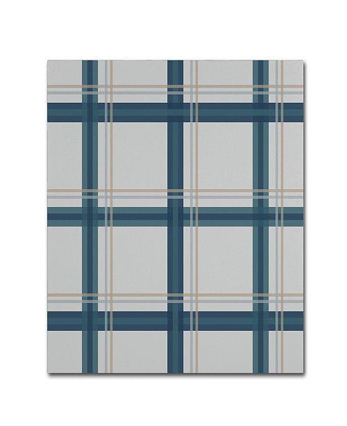 "Trademark Global Jennifer Nilsson Grey Blue Canvas Art - 16"" x 20"" x 0.5"""