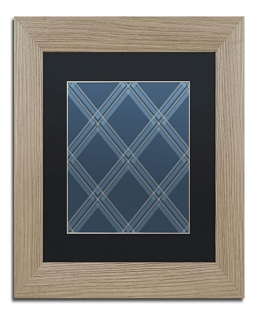 """Trademark Global Jennifer Nilsson Med Blue Diamond Matted Framed Art - 16"""" x 20"""" x 0.5"""""""