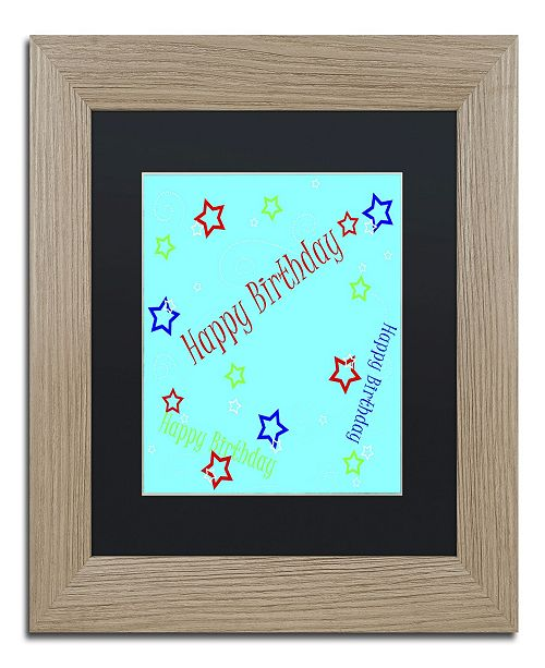 "Trademark Global Jennifer Nilsson Star Boy Birthday Matted Framed Art - 16"" x 20"" x 0.5"""