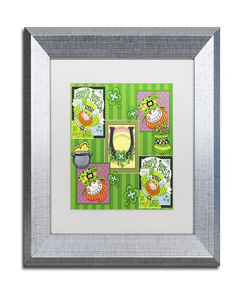 "Trademark Global Jennifer Nilsson St Patty Collage Matted Framed Art - 11"" x 11"" x 0.5"""