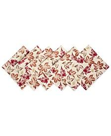Rustic Leaves Print Napkin, Set of 6