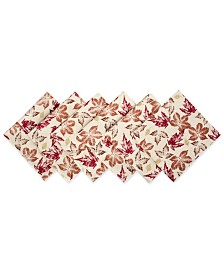 Rustic Leaves Print Napkin, Set of 6