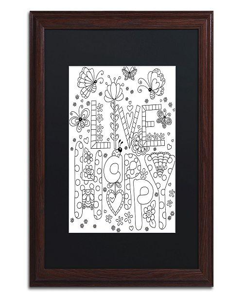 "Trademark Global Jennifer Nilsson Live Happy Matted Framed Art - 16"" x 20"" x 0.5"""