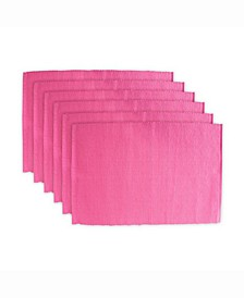 Flamingo Ribbed Placemat, Set of 6
