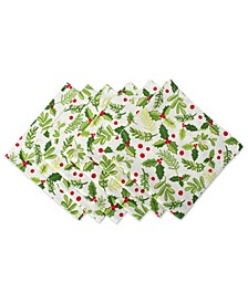 Boughs of Holly Print Napkin, Set of 6