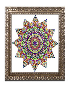 "Kathy G. Ahrens Sparkling Sunny Day Mandala Ornate Framed Art - 11"" x 11"" x 0.5"""