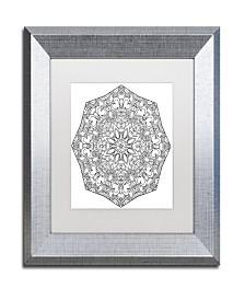 "Kathy G. Ahrens Sublime Mandala Matted Framed Art - 14"" x 14"" x 2"""
