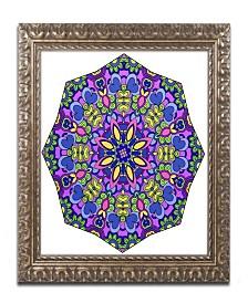 """Kathy G. Ahrens Sublime Sunshine Mandala Ornate Framed Art - 16"""" x 16"""" x 0.5"""""""
