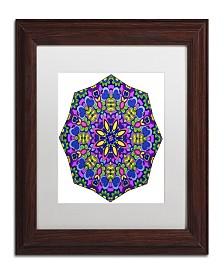 "Kathy G. Ahrens Sublime Sunshine Mandala Matted Framed Art - 16"" x 16"" x 0.5"""