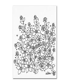 """KCDoodleArt Simple Flower Doodle 2 Canvas Art - 11"""" x 14"""" x 0.5"""""""
