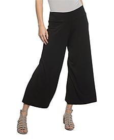 YALA Jaden Wide Leg Guacho Style Viscose from Bamboo Cropped Pant