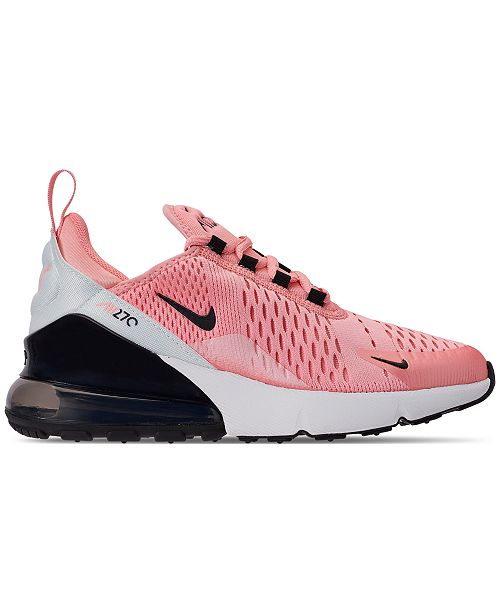 sports shoes 6e045 dda55 ... Nike Girls  Air Max 270 Valentine s Day Casual Sneakers from Finish ...