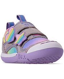 Skechers Toddler Girls' Flex Play - Rainbow Dash Slip-On Casual Sneakers from Finish Line