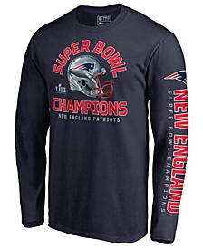 Men's New England Patriots Champ Two Minute Drill Long Sleeve T-Shirt
