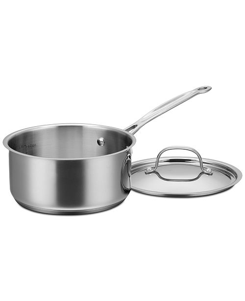 Cuisinart Chef's Classic™ Stainless Steel 2-Qt. Pour Saucepan with Lid