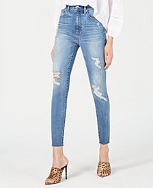 Kendall + Kylie Ripped Ankle Jeans
