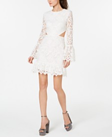 Rachel Zoe Cutout-Side Lace Dress