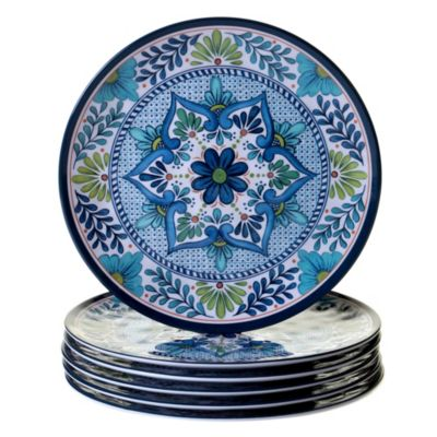 Talavera 6-Pc. Melamine Dinner Plate