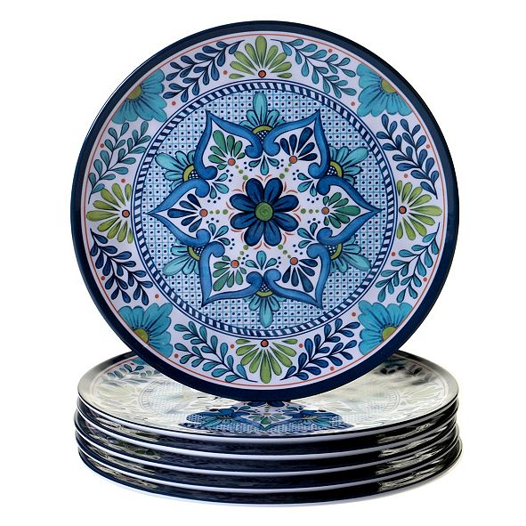 Certified International Talavera 6-Pc. Melamine Dinner Plate
