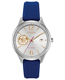 Eco-Drive Unisex Captain Marvel Blue Strap Watch 37mm