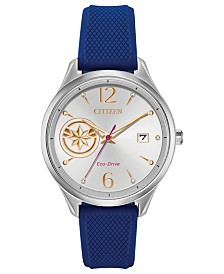 Marvel by Citizen Eco-Drive Unisex Captain Marvel Blue Strap Watch 37mm