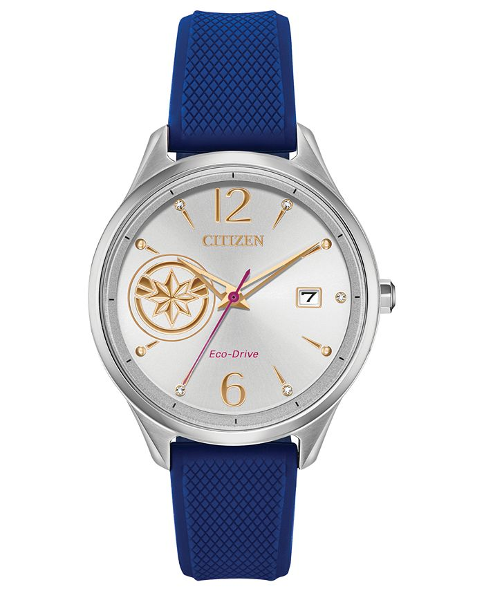 Citizen - Unisex Blue Silicone Strap Watch 37mm