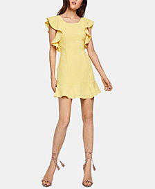 BCBGeneration Ruffled Fit & Flare Dress