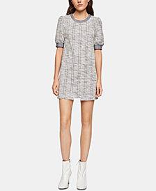 BCBGeneration Puff-Shoulder Boucle Shift Dress