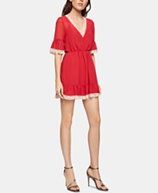 BCBGeneration Lace-Trim Blouson Dress