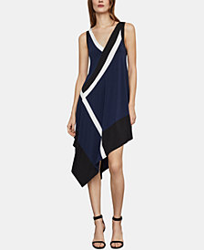 BCBGMAXAZRIA Asymmetrical Colorblocked Dress
