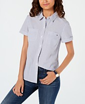 f6100f60d2cb4 Tommy Hilfiger Striped Camp Button-Up Shirt