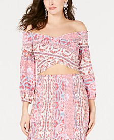 Trixie Off-The-Shoulder Crop Top