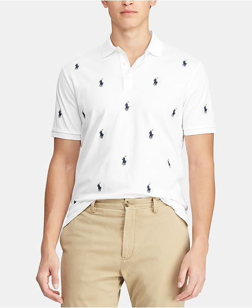 Polo Ralph Lauren Men's Classic-Fit Allover Pony Polo Shirt